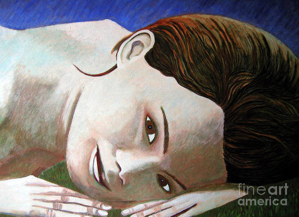 Identity (symbolic Art) Art Print featuring the painting Am I My Body My Beauty by Tanni Koens