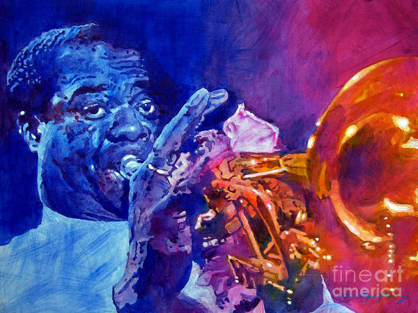Jazz Print featuring the painting Ambassador Of Jazz - Louis Armstrong by David Lloyd Glover