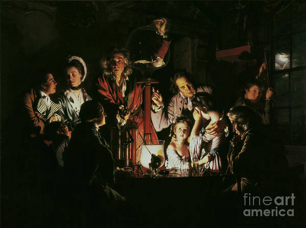 Wright Print featuring the painting An Experiment On A Bird In The Air Pump by Joseph Wright of Derby