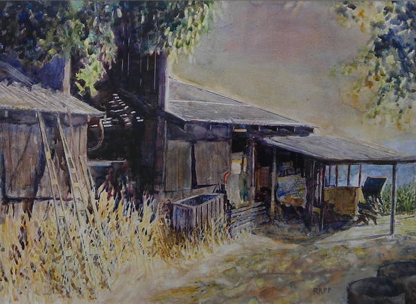 Farmhouse Art Print featuring the painting An Old Friend by Jan Rapp