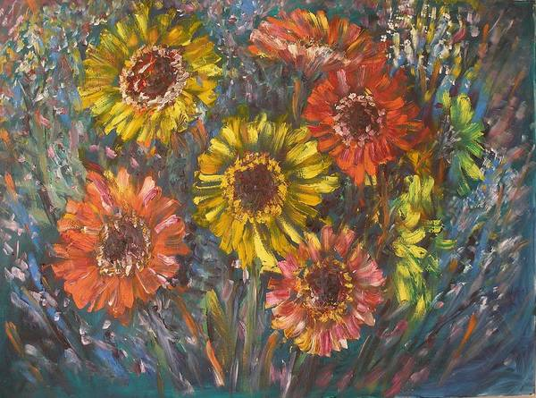 Daisy Art Print featuring the painting Applause by Wendy Chua