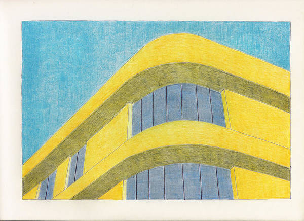 Architecture Art Print featuring the drawing Art Deco by Eric Forster