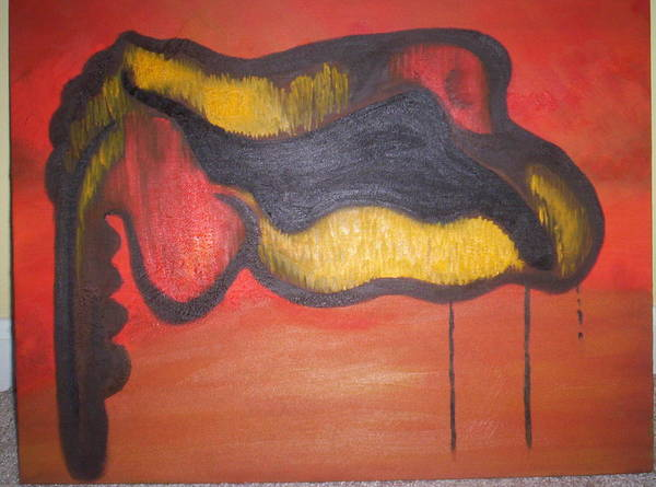 Abstract Art Print featuring the painting Autopsy by Becca Haney