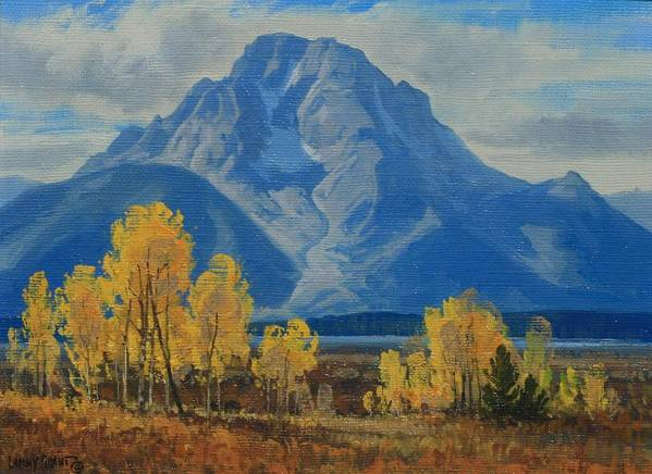 Art Print featuring the painting Autumn-willow Flats by Lanny Grant