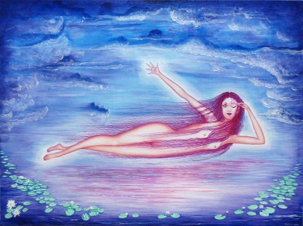 Goddess Art Print featuring the painting Awakening by Tom Hefko