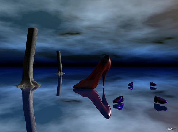 Surreal Art Print featuring the digital art Bad Shoes by Francis Erevan