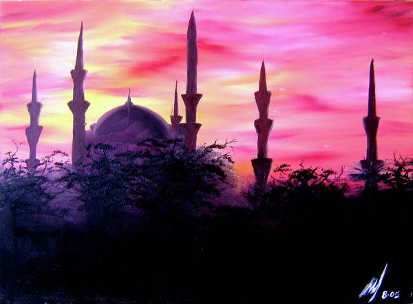 Painting Art Print featuring the painting Baghdad Sunset by Michael McKenzie