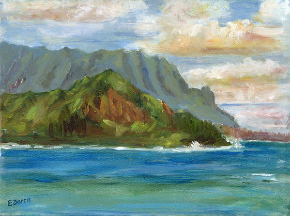 Seascape Art Print featuring the painting Bali Hai by Elizabeth Ferris