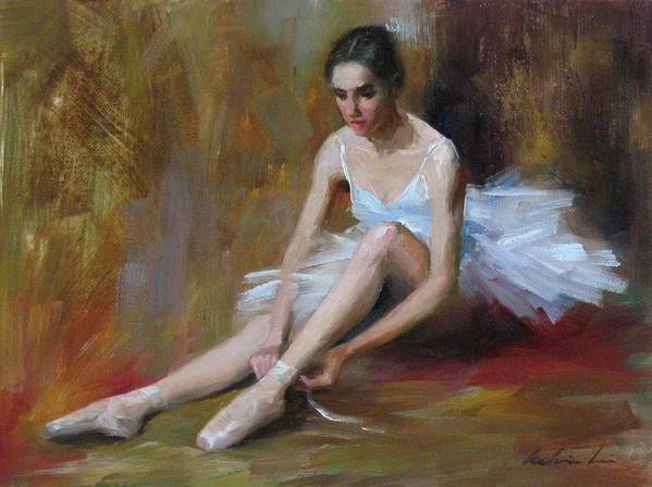 Figurative Art Print featuring the painting Ballerina D by Kelvin Lei