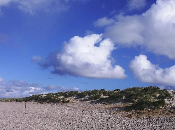 Beach Art Print featuring the photograph Beach With Clouds by Sascha Meyer