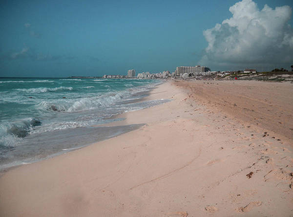 Beach Art Print featuring the digital art Beautiful Beach In Cancun, Mexico by Nicolas Gabriel Gonzalez