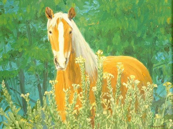 Horse Art Print featuring the painting Belgian Draft Horse by Lee Thomason
