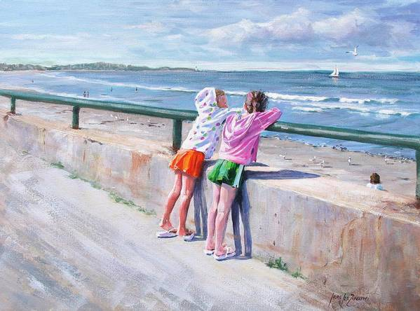 Seascape Art Print featuring the painting Best Friends by Laura Lee Zanghetti