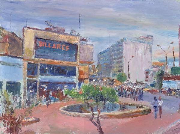 Oil Art Print featuring the painting Billares by Horacio Prada