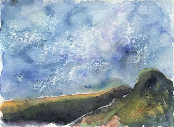 Landscape Art Print featuring the painting Blue Sky II by Lily Hymen