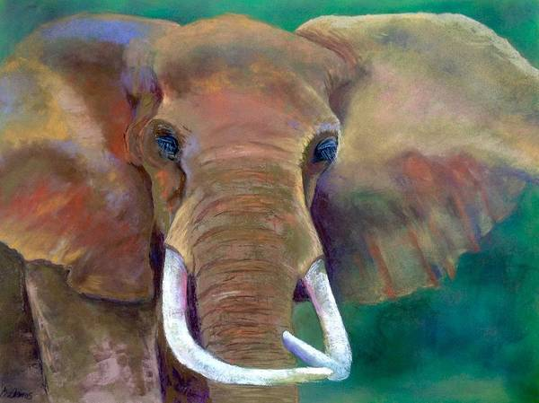 Art Print featuring the pastel Bruno by Barbara Amos