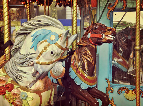 Bryant Art Print featuring the photograph Bryant Park Carrousel by JAMART Photography