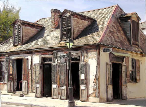 Blacksmith Art Print featuring the painting Burbon Street Blacksmith by Russell Michael