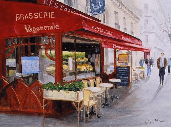 Cafe Art Print featuring the painting Cafe 4 by Jay Johnson