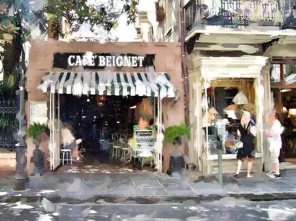 Cafe Art Print featuring the photograph Cafe Beignet Summer Day by Scott Crump