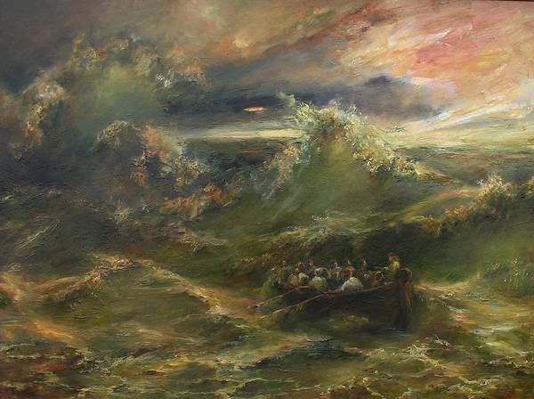 Calming The Storm Art Print featuring the painting Calming The Storm by Tigran Ghulyan