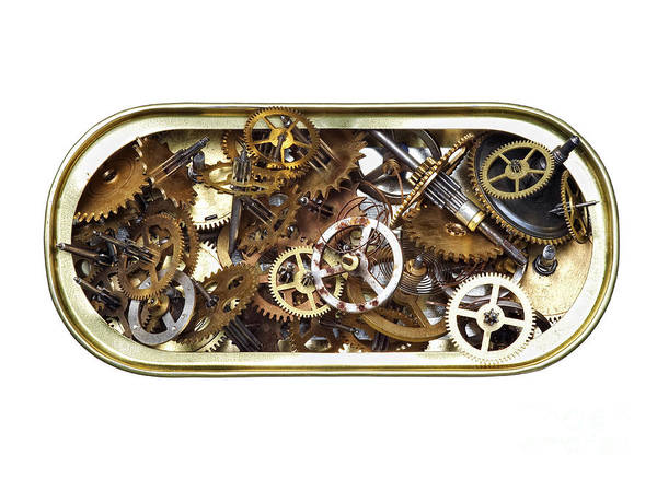 Clockwork Art Print featuring the photograph Canned Time by Michal Boubin