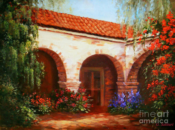 Landscape Art Print featuring the painting Capistrano by Gail Salitui