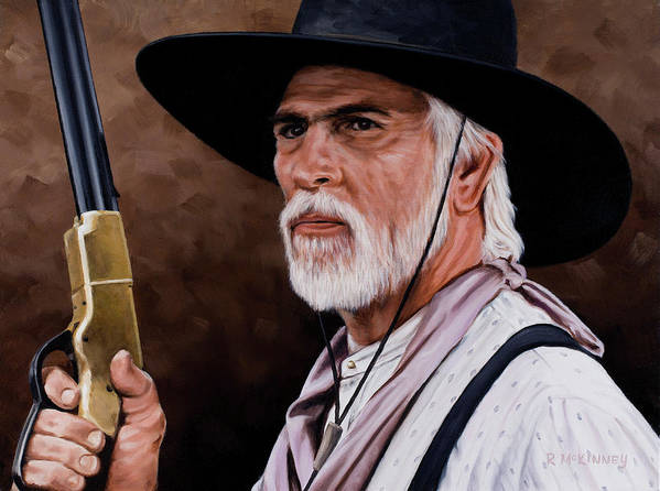 Lonesome Dove Print featuring the painting Captain Woodrow F Call by Rick McKinney