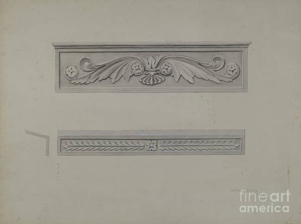 Art Print featuring the drawing Cast Iron Window Lintel by William Kerby