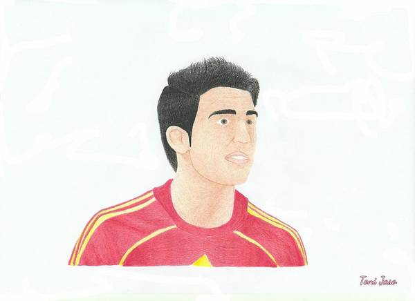 Cesc Fabregas Art Print featuring the drawing Cesc Fabregas by Toni Jaso