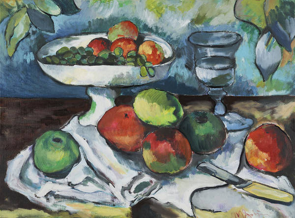 Art Print featuring the painting Cezanne by Michelle Spiziri