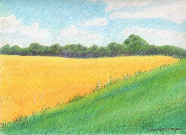 Landscape Art Print featuring the drawing Charles County by Harriet Emerson