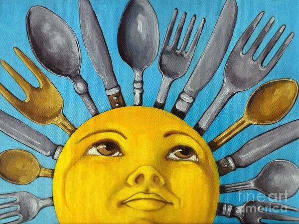Cbs Sunday Morning Art Print featuring the painting Chefs Delight - Cbs Sunday Morning Sun Art by Linda Apple