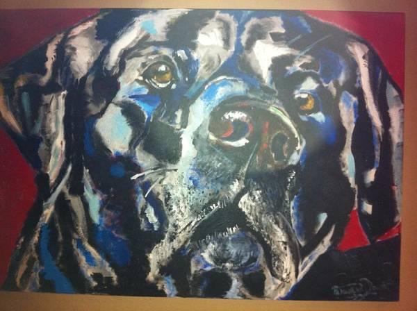 Labrador Art Print featuring the painting Chet by Patrick Davis