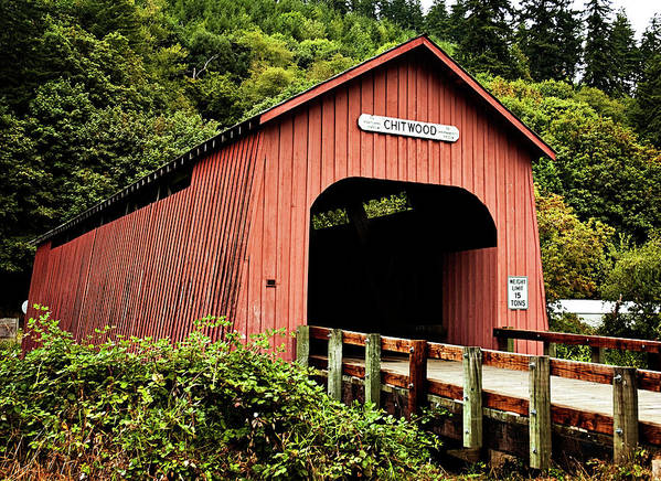 Chitwood Covered Bridge Art Print featuring the photograph Chitwood Covered Bridge by Becky Thompson
