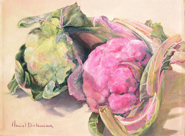 Flower Art Print featuring the painting Choux by Muriel Dolemieux