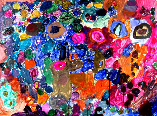 Circles Art Print featuring the painting Circles by Janice Michaud
