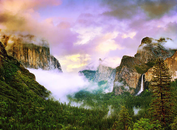 'clearing Storm Over Yosemite Valley' Art Print featuring the photograph Clearing Storm Over Yosemite Valley by Edward Mendes