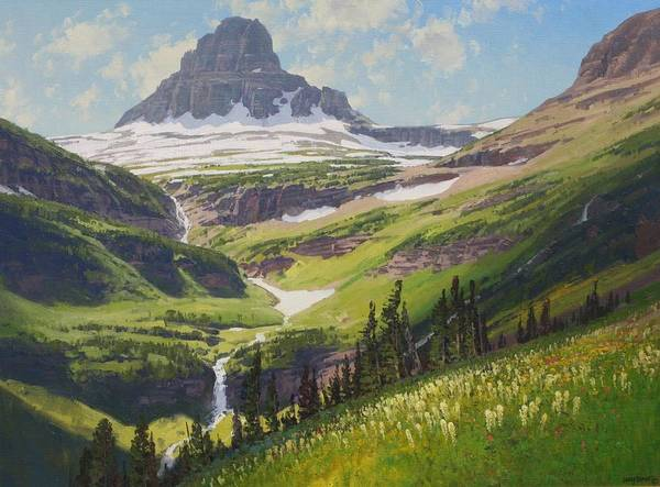Landscape Art Print featuring the painting Clements Mountain by Lanny Grant
