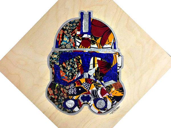 Clone Trooper Art Print featuring the tapestry - textile Clone Trooper Star Wars Afrofuturist by Apanaki Temitayo M