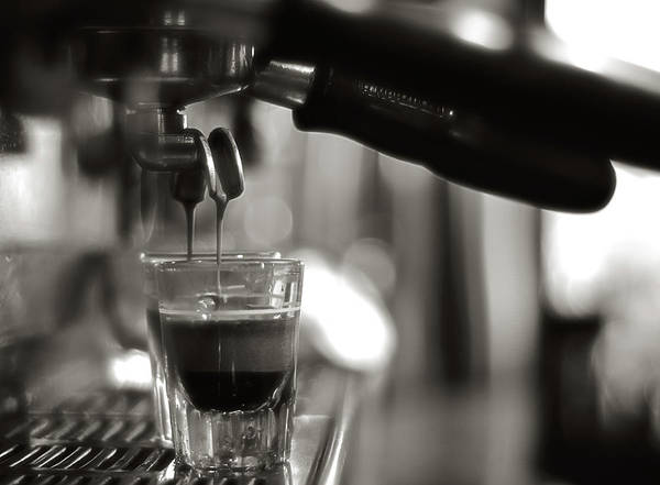 Close-up Print featuring the photograph Coffee In Glass by JRJ-Photo
