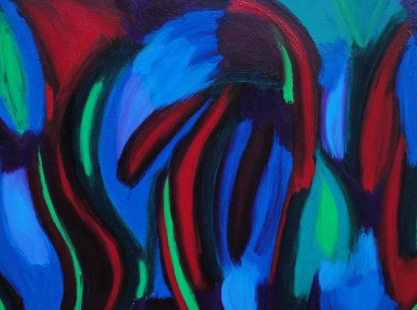 Blue Art Print featuring the painting Cold Fusion by Elizabeth Dawson