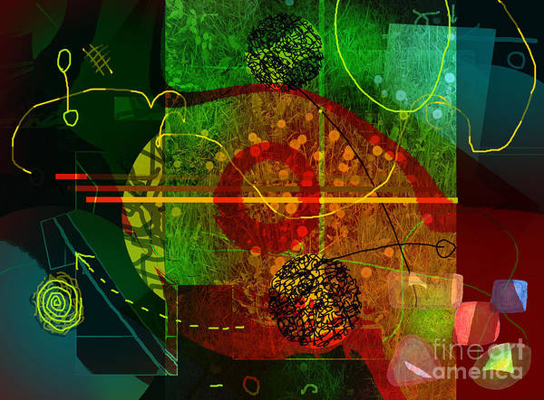Abstract Art Print featuring the digital art Colorscope by Andy Mercer