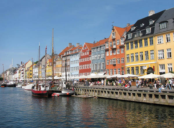 Architecture Art Print featuring the photograph Copenhagen Harbor by Mary Lane