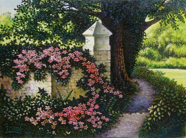 Flowers Art Print featuring the painting Country Path by Michael Frank