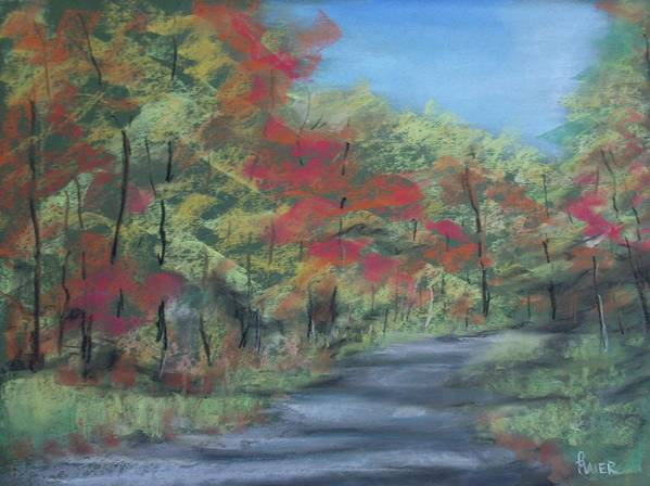 Landscape Art Print featuring the painting Country Road II by Pete Maier