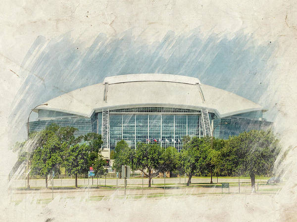 Dallas Art Print featuring the photograph Cowboys Stadium by Ricky Barnard