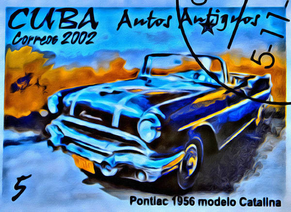 Car Art Print featuring the photograph Cuba Antique Auto 1956 Catalina by Modern Art