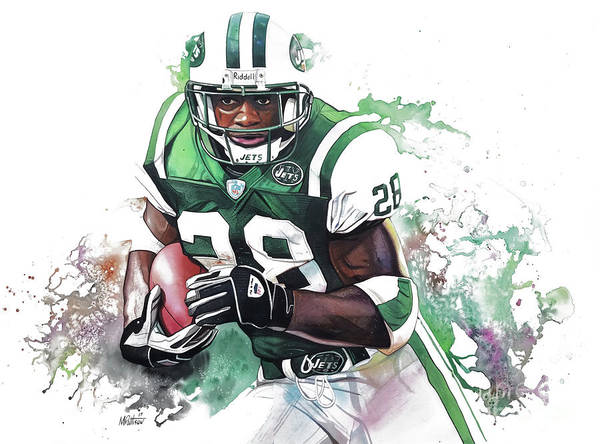 Curtis Martin New York Jets Art Print by Michael Pattison