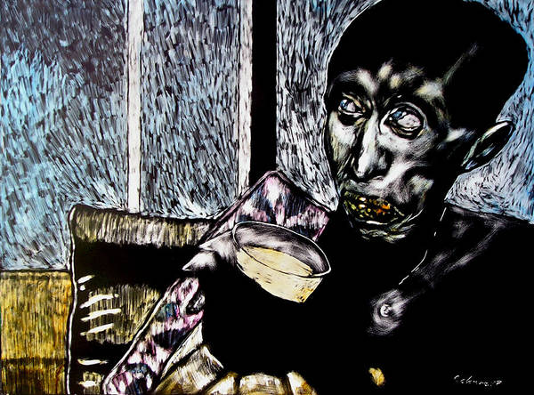 Social Commentary Art Print featuring the mixed media Darfu In Our Living Room by Chester Elmore